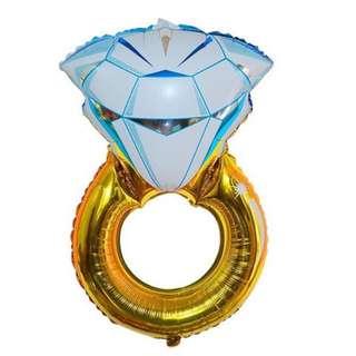Diamond Ring Hens Night Balloon