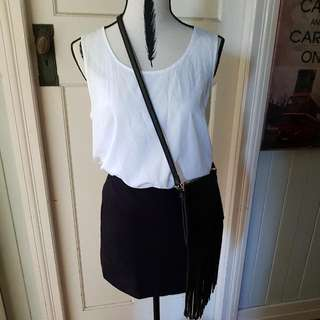 Sportsgirl Stretch Mini Skirt Miss Shop White Top Size 12 Will Fit 10 Sell Seperate Or As Set