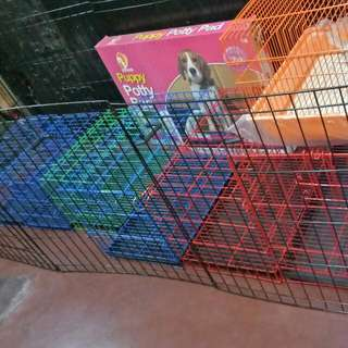 Pet Cage And Potty Pad