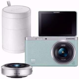 【無盒版】SAMSUNG NX mini 9mm+9-27mm雙鏡組+原廠白色鏡頭盒