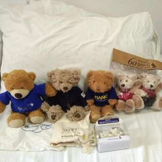 Limited Edition Singapore Airlines Bears And Couple Handphone Charms