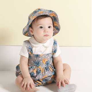 ✔️STOCK - VINTAGE PINEAPPLE FRUIT BABY TODDLER GIRL CASUAL SUN FLARE ROMPER KIDS CHILDREN CLOTHING