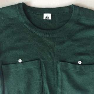 Dark Green Top With 2 Pockets