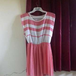 Dress Pink Stripe💖