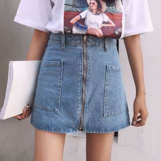 韓版圓圈牛仔裙