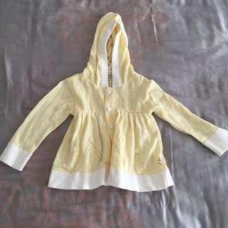 Kids Girl Yellow Cardigan Sweater Jacket Jaket Anak Size 18-24 Months