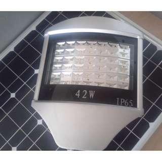 LED  Street light dengan solar panel