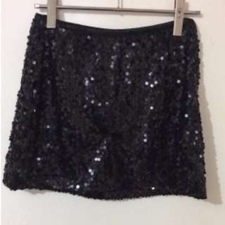 Sequin embroidered mini skirt lingerie/club wear size 8