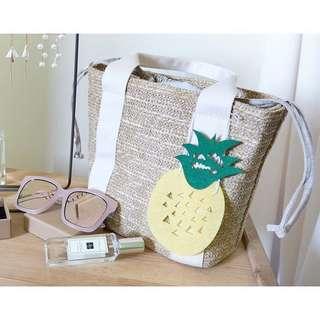 夏季必備手工編織海灘渡假手提包
