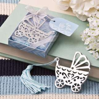 Baby Boy and Girl Stroller Bookmark Christening Souvenir Giveaway