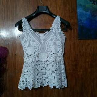 Threaded Lace Top