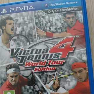 Psvita game virtual tennis 4 world tour edition