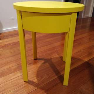 2x Side Table In Bright Yellow With 1 Drawer