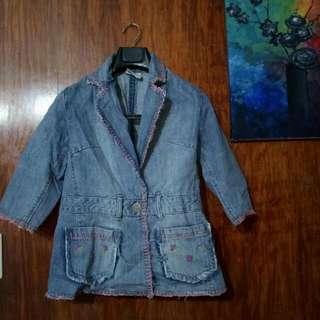 Quarter Sleeved Denim Blazer