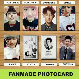 Exo Chanyeol Fanmade Photocards
