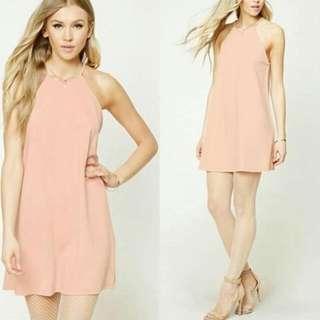 Textured Swing Dress (Baby Pink)
