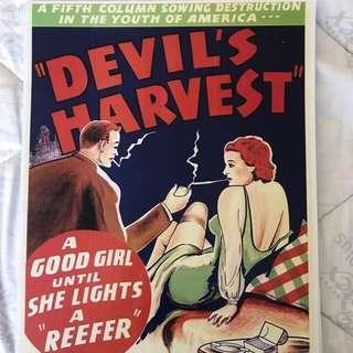 Devils Lettuce Amsterdam Poster