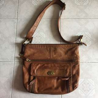Fossil Leather Sling Bag