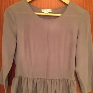 Grey Glassons Peplum Top
