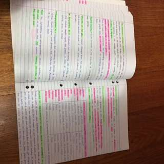 VCE NOTES