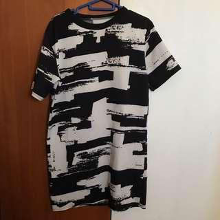 Black & White printed shirt dress