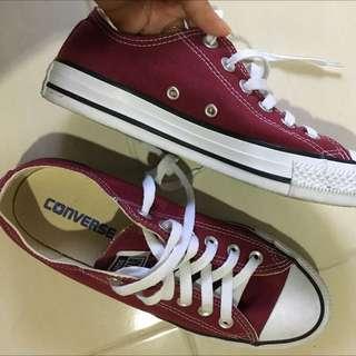 Sepatu CONVERSE ori Warna Maroon
