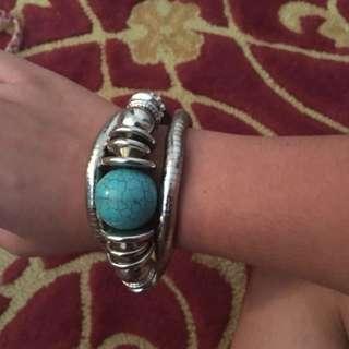 Metal Wrap Around Bracelet