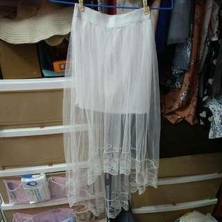 包臀不規則紗裙