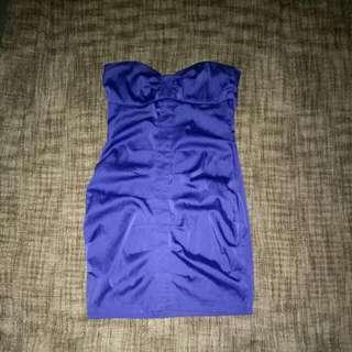 Supre Strapless Purple Dress