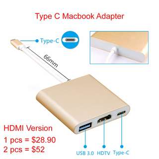 USB C Macbook Adapter HDMI USB 3.0 laptop lenovo Asus Dell Type C Adapter Multi port hub