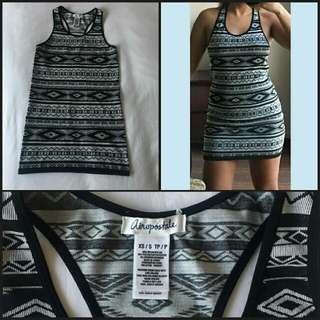 Racerback Aeropostale Bodycon Aztec Dress
