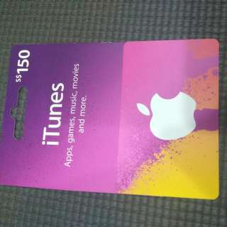 Apple iTunes card 150SGD (anyone need?)