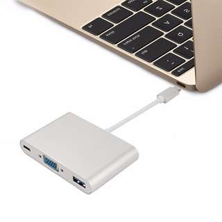 🚚 USB C Macbook Adapter HDMI USB 3.0 laptop lenove Type C Adapter Multi port hub USB C Macbook Adapter VGA USB 3.0 laptop lenovo Dell XPS Acer Asus Type C Adapter Multi port hub