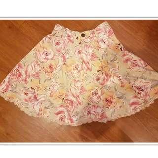 日本Liz Lisa 粉色花柄高腰裙