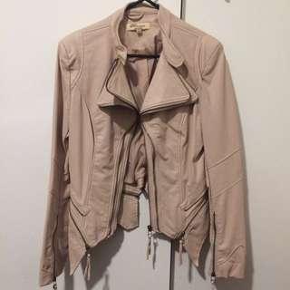 Leather Pastel Pink Jacket