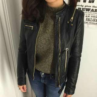 Black Leater Jacket Size S