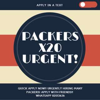 URGENT!!! $7/HOUR ★ 1 MONTH PACKER @ HOUGANG ★ NO INTERVIEW ★ SIMPLE PACKING ★ MASS HIRING!!