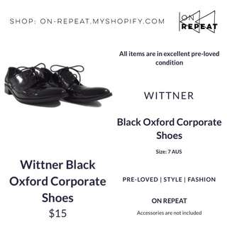 Wittner Black Oxford Corporate Shoes