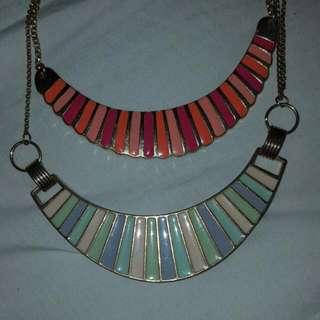 pastel necklaces