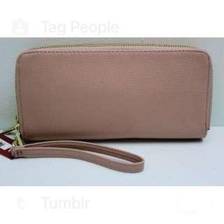 BRANDNEW Merona Wristlet Faux Leather Wallet