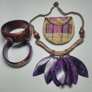 TAKE IT ALL ( ETHNIC NECKLACE, BANGLES & COIN PURSE)