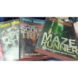 The Maze Runner, The Scorch Trials, The Death Cure By James Dashner