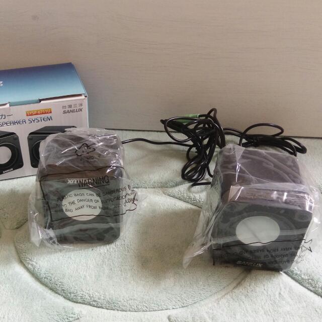 台灣三洋2.0聲道USB多媒體喇叭SYSP-6711U