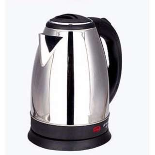 Stainless Steel Electric Kettle with Detachable Power Base (Silver)