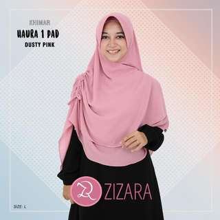 Khimar HAURA Original By Zizara Size L (Dusty Pink)