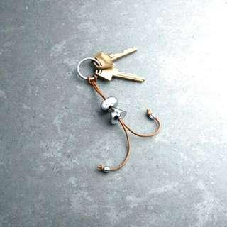 【全新】GEORG JENSEN 喬治傑生鑰匙圈/女孩版 👭 #含運最划算