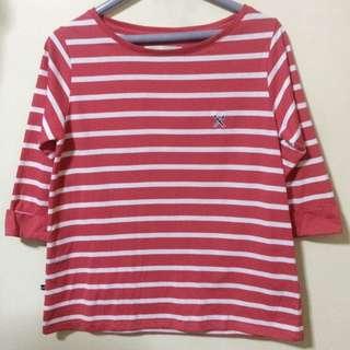 Original Regatta Red Striped Three Fourth Shirt