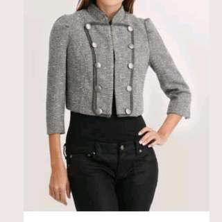 Cropped Wool Blended Blazer