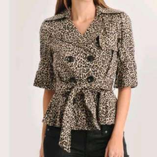 Leopard Belt Jacket