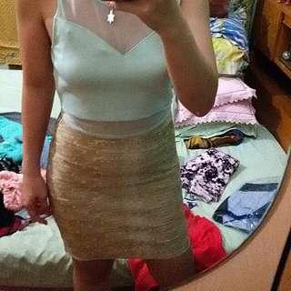 Gold Bandage Skirt